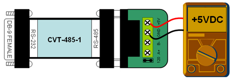 RS232 to RS485 converter - port power measurement