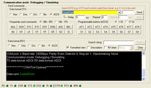 RS232 RS485 Converter - Loopback test by using CommFront 232Anlayzer software