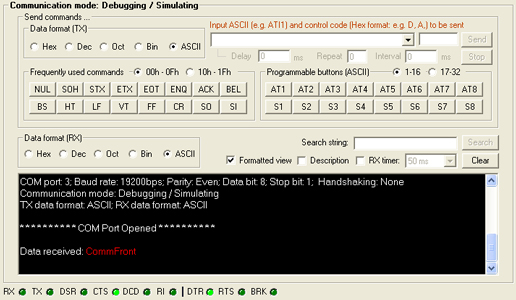 RS232 to RS485 Converter - Loopback test by using CommFront 232Analyzer software