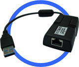 Port-Powered USB 3.0 To Gigabit Ethertnet Converter