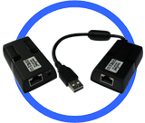 Industrial Port-Powered USB 2.0 Extender/Repeater